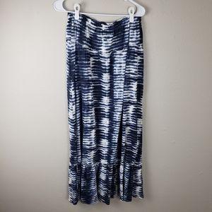 Tommy Hilfiger Blue & White Tie Dye Maxi Skirt SP